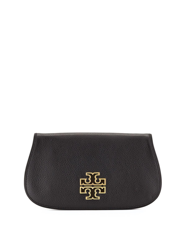 02e8ec463974 Tory BurchBritten Leather Flap Clutch Bag