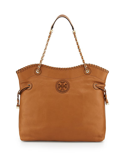 Tory Burch Marion Slouchy Drawstring Tote Bag, Royal Tan