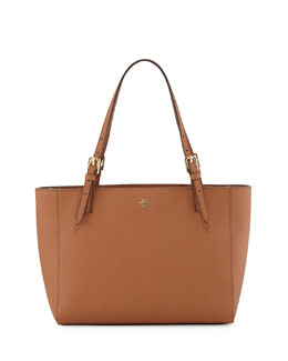 Tory Burch York Small Saffiano Tote Bag, Luggage