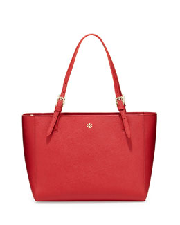 Tory Burch York Small Saffiano Tote Bag, Kir Royale