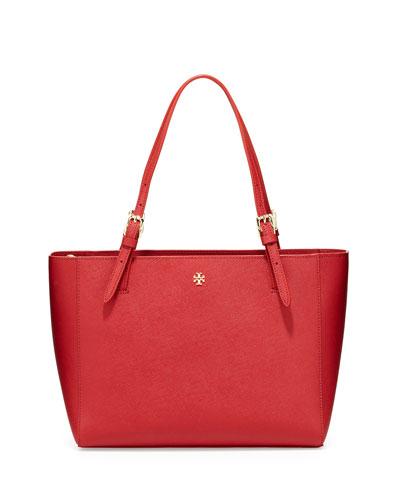 York Small Saffiano Tote Bag, Kir Royale