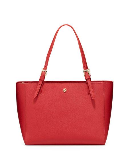 Tory Burch York Small Saffiano Tote Bag, Kir