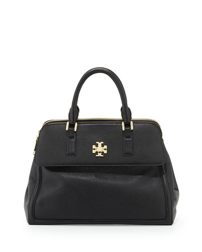 Tory Burch Mercer Leather Dome Satchel Bag, Black