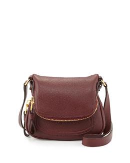 Tom Ford Jennifer Mini Calfskin Crossbody Bag, Red