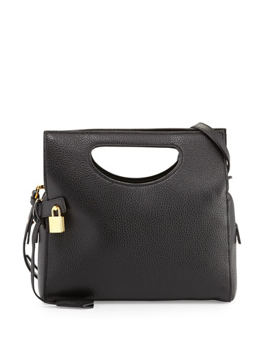 Tom Ford Alix Small Top Handle Shoulder Bag, Black