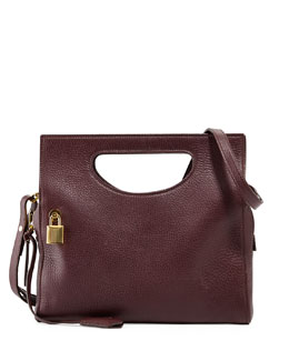 Tom Ford Alix Small Top-Handle Shoulder Bag, Bordeaux