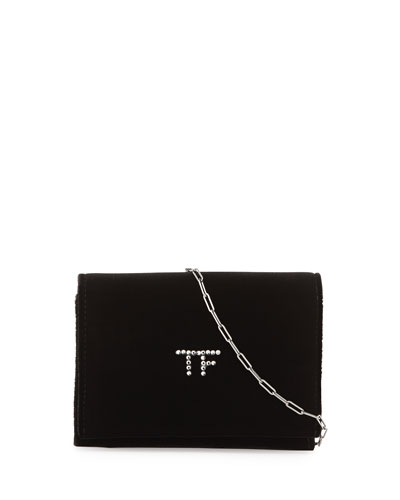 Tom Ford TF Velvet Chain Shoulder Bag, Black