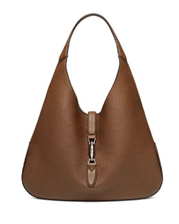 Gucci Jackie Soft Leather Hobo Bag, Luggage Brown
