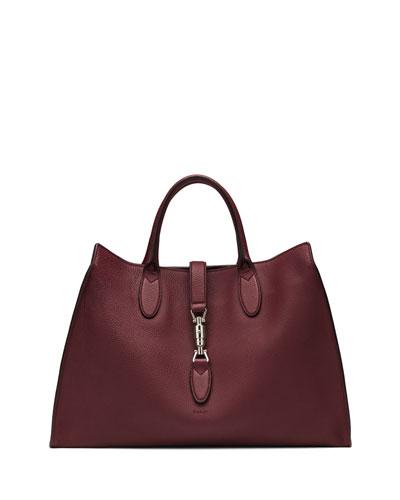 Gucci Jackie Soft Leather Top Handle Bag, Bordeaux