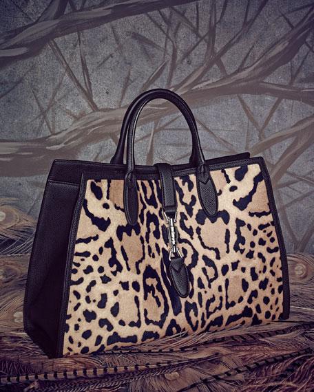 Jackie Soft Leather Flap Shoulder Bag, Luggage Brown