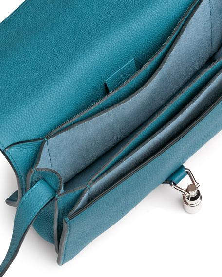 f5c822cf59 Gucci Jackie Soft Leather Flap Shoulder Bag