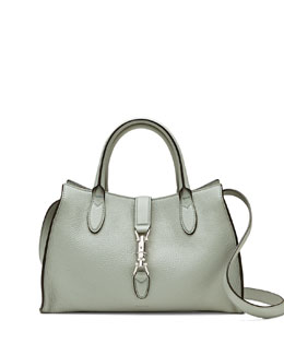 Gucci Jackie Soft Leather Top Handle Bag, Light Blue