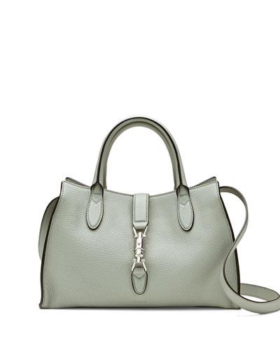 Gucci Jackie Soft Leather Top Handle Bag, Light Blue