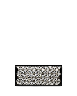 Gucci Broadway Beaded Leather Clutch Bag, Black/Silver