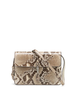 Gucci Jackie Soft Python Convertible Wallet, Tan Multi