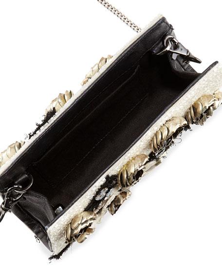 Carole Beaded Applique Clutch Bag