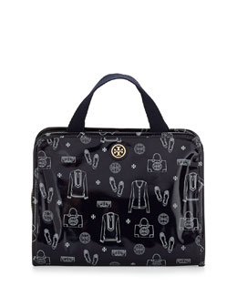 Tory Burch Bi-Fold Hanging Travel Organizer Bag, Tory Navy