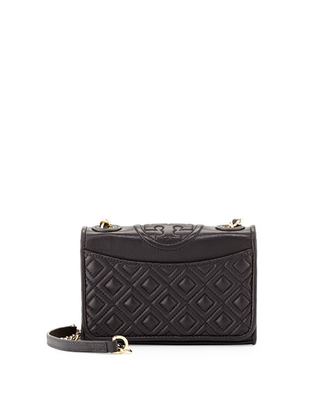 Fleming Quilted Leather Mini Bag, Black