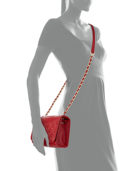 Fleming Quilted Leather Mini Bag, Kir Royal