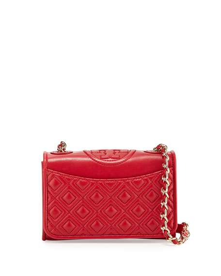 Tory Burch Fleming Quilted Leather Mini Bag, Kir Royal