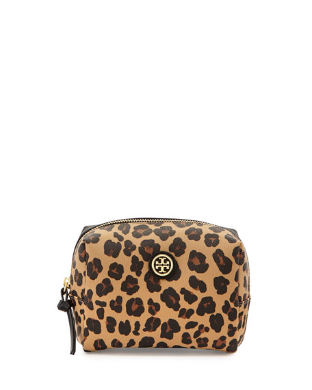 Kerrington Brigitte Cosmetic Bag, Ocelot Print/Black