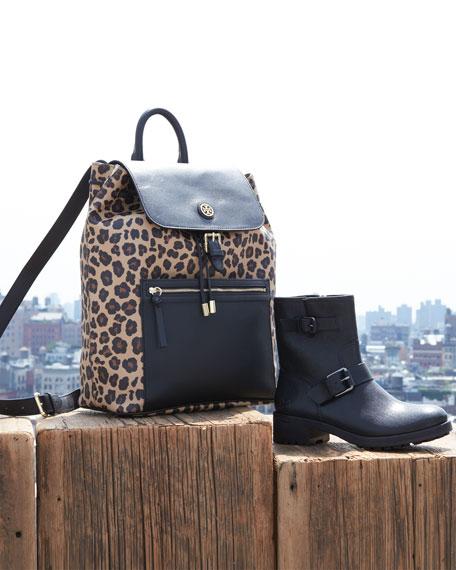 Kerrington Leopard-Print Backpack