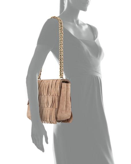 Suede Fringed Shoulder Bag