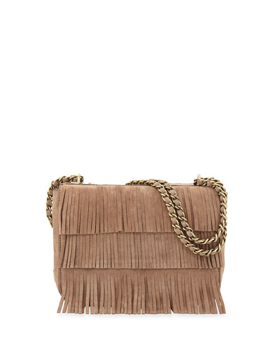 Tory Burch Suede Fringed Shoulder Bag