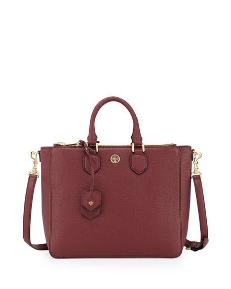 Robinson Pebbled Square Tote Bag, Deep Berry
