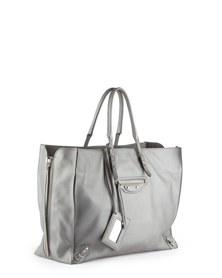 Papier A5 Zip Around Tote Bag, Gray