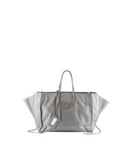 Balenciaga Papier A5 Zip Around Tote Bag, Gray
