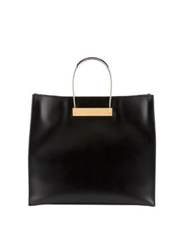 Balenciaga Cable Strap Medium Shopper Bag, Black