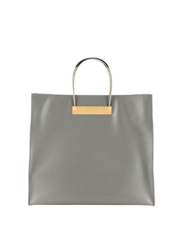 Balenciaga Cable Strap Medium Shopper Bag, Gray