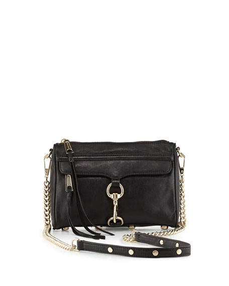MAC Calfskin Clutch Bag, Black