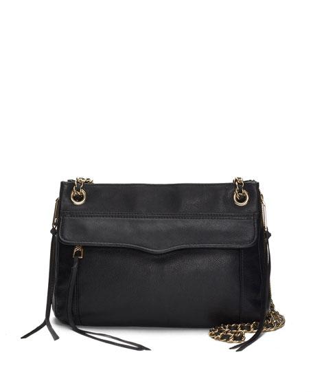 Leather Swing Bag, Black