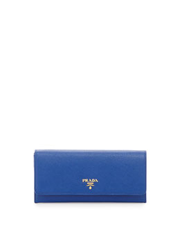 Prada Saffiano Wallet on Chain, Royal Blue (Royal)