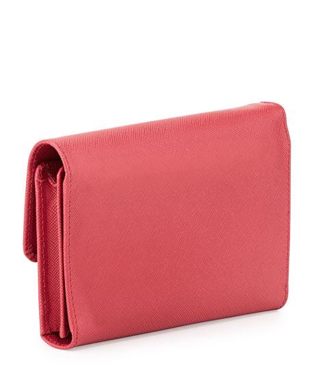 replica designer handbags prada - Prada Saffiano Phone Wallet, Fuchsia (Peonia)
