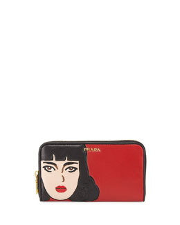Prada Nappa Wallet, Red (Fuoco)