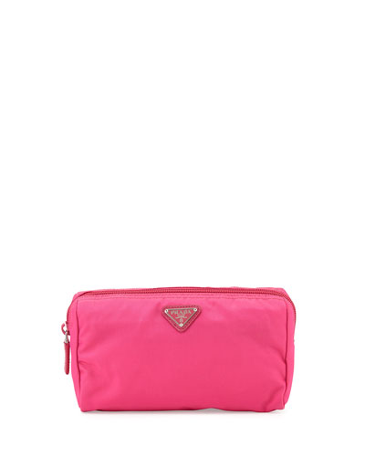 Vela Trapezoid Cosmetics Case, Pink (Fuxia)