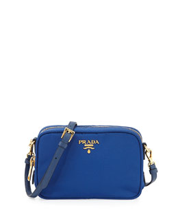 Prada Tessuto Small Crossbody Bag, Blue (Bluette)