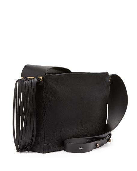 Tribale Fringe Shoulder Bag, Black