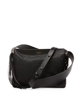Lanvin Tribale Fringe Shoulder Bag, Black