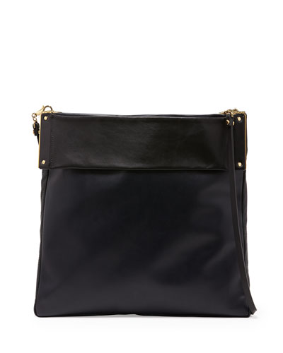 Lanvin Tape Medium Convertible Tote Bag, Navy/Black