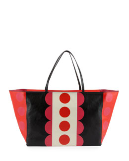 Valentino Carmen Medium Polka-Dot Tote Bag