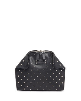 Alexander McQueen De-Manta Studded Cosmetic Case, Black