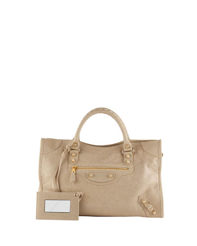Balenciaga Giant 12 Golden City Bag, Beige