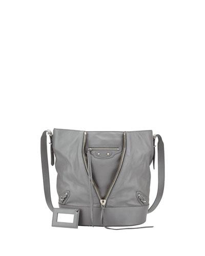 Balenciaga Papier Drop Bucket Bag, Gray