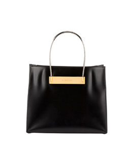 Balenciaga Cable Strap Small Shopper Bag, Black