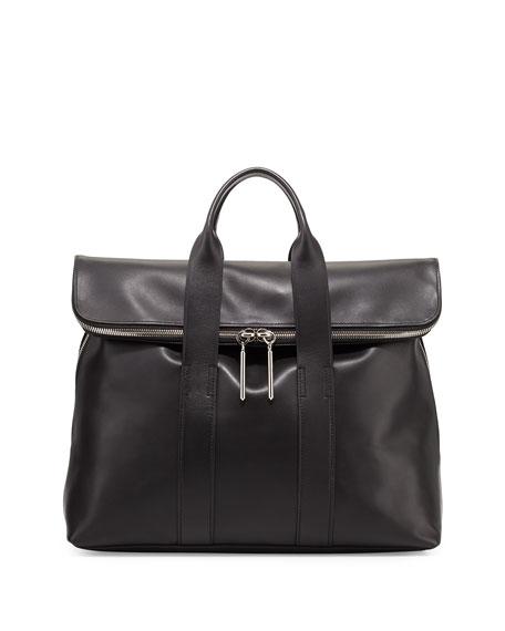 31-Hour Fold-Over Tote Bag, Black