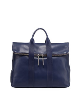 3.1 Phillip Lim 31-Hour Fold-Over Tote Bag, Navy